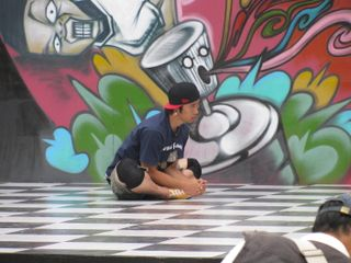 093 Hip Hop Performer Warms Up, Hip Hop Stage, Incheon Global Fair, Incheon