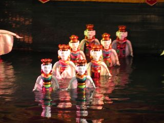090 Water Puppets in Action, Vietnamese Water Puppet Theater, Incheon Global Fair, Incheon
