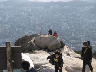 019 View Down from the Summit, Bukhansan Mountain, Seoul
