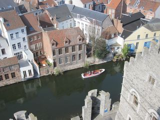 230 Canal View from Castle of the Counts, Historisch Centrum, Ghent, Belgium