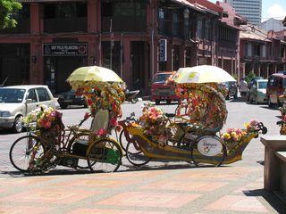 075 Trishaw Available for Tourist Transport, Melaka, Malaysia